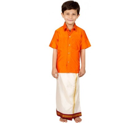 Thangamagan Boys Shirt & Dhoti Set