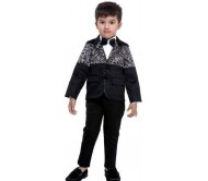 Bad Boys Boys Festive & Party Blazer, Shirt and Trouser Set  (Multicolor Pack of 4)