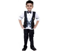 Bad Boys Boys Shirt, Waistcoat and Pant Set  (Multicolor Pack of 4)