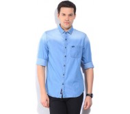 U.S. Polo Assn. Men's Solid Casual Blue Shirt