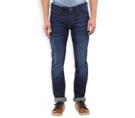 Highlander Slim Men's Dark Blue Jeans