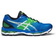 Asics Gel-Nimbus 17 Men Running Shoes  (White, Green)