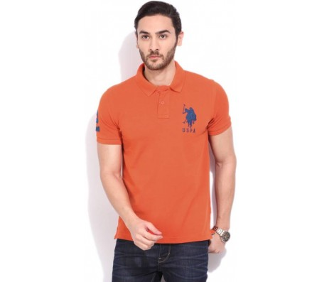 U.S. Polo Assn. Men's Orange T-Shirt