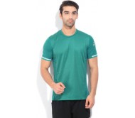 Adidas Self Design Men's Round Neck Green T-shirt