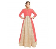 Ladies Flavour Multicoloured Georgette Anarkali Semi Stitched Suit