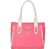 FD Fashion Shoulder Bag  (Pink, White)