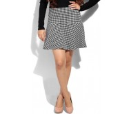 Only Printed Women's Black, White Skirt