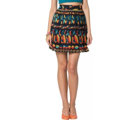 Chumbak Printed Women's A-line Multicolor Skirt