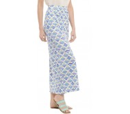 Chumbak Printed Women's Straight Blue Skirt