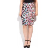 Arrow Printed Women's Tube Multicolor Skirt