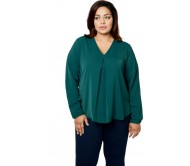 Calae Casual Full Sleeve Solid Women's Green Top