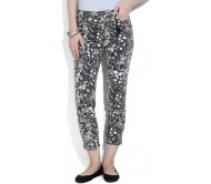 Chemistry Regular Fit Women's White, Black Trousers