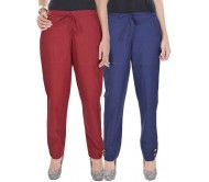 Kalrav Regular Fit Women's Multicolor Trousers