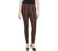 OPUS Regular Fit Women's Multicolor Trousers