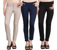 NGT Slim Fit Women's Multicolor Trousers