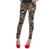 All About Eve Skinny Fit Women's Multicolor Trousers