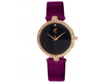 Style Feathers Stylist Shining Dial Royal Analog Watch - For Girls